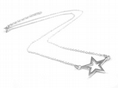 Sterling Silver Small Star Necklace